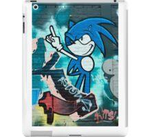 Abstract Graffiti on the textured brick wall iPad Case/Skin