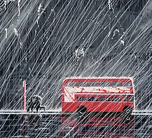 Bus Stop Painting by Richard Yeomans