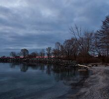 Early, Still and Transparent - on the Shores of Lake Ontario in Toronto by Georgia Mizuleva