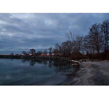 Early, Still and Transparent - on the Shores of Lake Ontario in Toronto Photographic Print