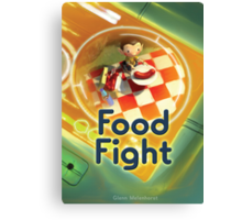 Food Fight poster Canvas Print