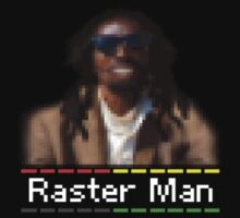 Bitmap Raster Graphics - Reggae Rasta Man - T-Shirt & Top by deanworld