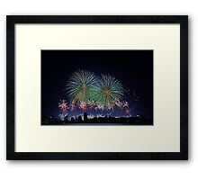 Perth Australia Day Skyworks 2014  Framed Print