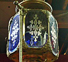 Lamp or Ornament At the Top - Antique Fire Wagon by Jane Neill-Hancock