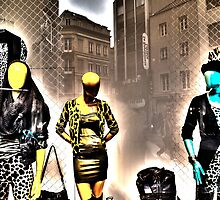 Three Fashionmodels without face by JBATELIER