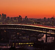 Seattle Sunset Panorama by mikereid