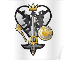 (Kingdom Hearts) All for One and One for All Silver/Gold Poster