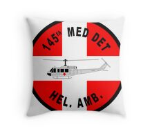 145th Medical Detachment - Helicopter Ambulance Throw Pillow