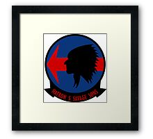 VAH - 5 HATRON FIVE - Heavy Attack Squadron - Indian Head - Savage Sons Framed Print