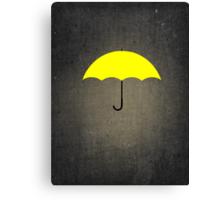 You are my Yellow Umbrella Canvas Print