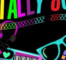 Totally 80's Fun Neon Sticker
