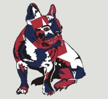 Bulldog with red, blue and white star by rlnielsen4