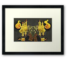 The Candle Man Framed Print