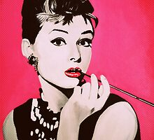 Audrey Hepburn Acrylic Painting by Myartscape