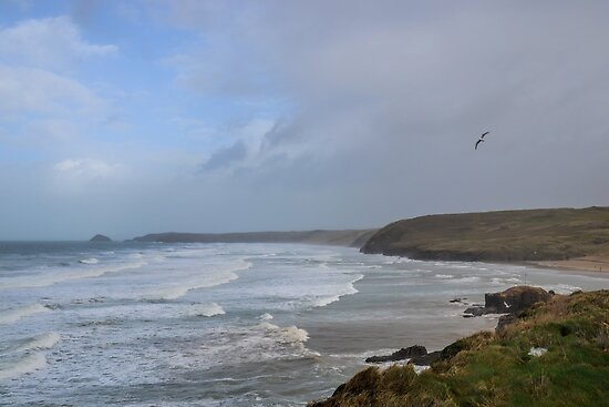 Perranporth, Cornwall 2014-01-26 by lynn carter