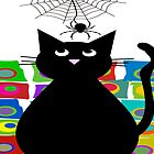 Black Cat and Spider by gailg1957