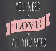 Valentine's Day Chalkboard Design by Iveta Angelova