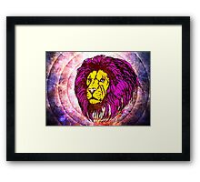 Lion Modern Pop Colors - T Shirt Prints and Stickers Framed Print