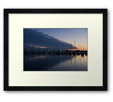The Urge to Sail Away - Violet Sky Reflecting in Lake Ontario in Toronto, Canada Framed Print