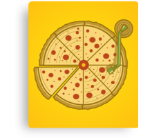 Pizza Vinyl Canvas Print
