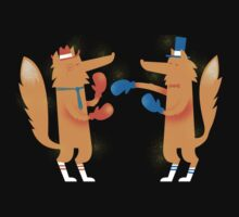 Posh Foxes like to Box while wearing Socks Kids Clothes