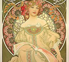 'Obraz' by Alphonse Mucha (Reproduction) by Roz Barron Abellera