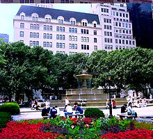 Plaza Hotel/Fountain, NYC, NY by Ellen Turner