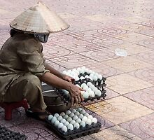 selling eggs by Anne Scantlebury