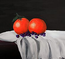 Still Life of Oranges by Adam Berardi