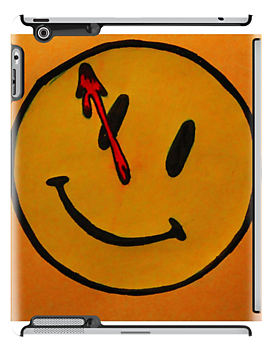 Watchmen Comedian Smiley Face Orange and Yellow by Amber Batten