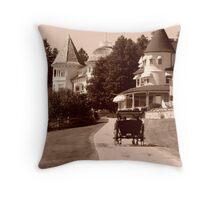 Carriage Ride in Mackinac Island Throw Pillow