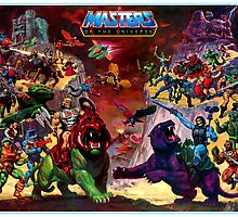 Masters of the Universe - Castle Grayskull Characters Poster by SwiftWind