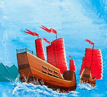 Chinese Ships by Glenn Russell