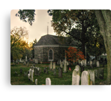 Old Dutch Reformed Church and Burial Ground, Sleepy Hollow, NY Canvas Print