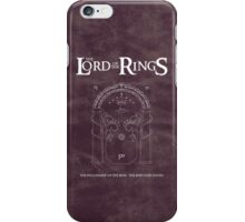 The Lord of the Rings : The Ring Goes South iPhone Case/Skin
