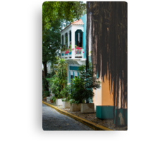 San Juan, Puerto Rico - Gorgeous Caribbean Colors and Flora Metal Print