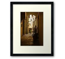Wandering Around the Lanes and Alleys of Florence, Italy Framed Print