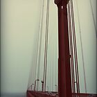 Vintage Golden Gate Bridge, San Fransisco  by Chris Roberts