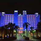 Myrtle Beach Hotel at Night by imagetj