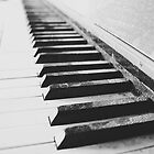 Vintage piano - black & white by SassySnark