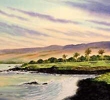 Mauna Kea Golf Course Hole 3 by bill holkham