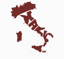Italy Type Map (Red) by seanings