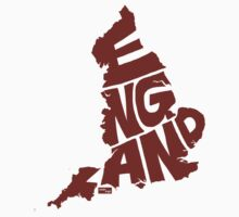 England Type Map (Red) by seanings