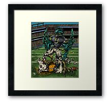 Seahawks vs Broncos Framed Print