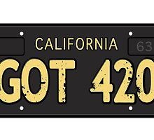 Got 420 Old License by LGdesigns