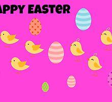 Happy Easter Card by Paula J James