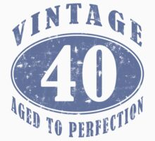 Funny Vintage 40th Birthday T-Shirt by thepixelgarden