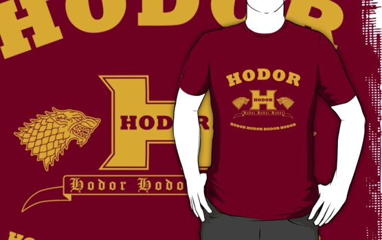 Hodor language school (gold) by karlangas