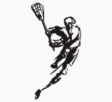 Lacrosse Player by SportsT-Shirts