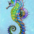 Watercolour Seahorse by STUDIO 88 TARANAKI NZ